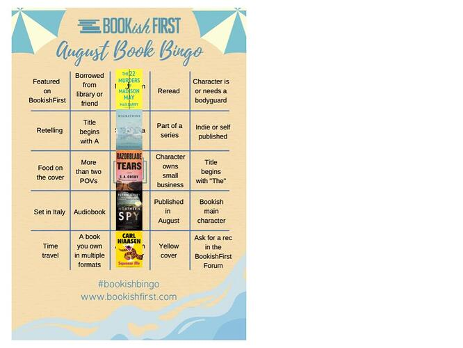 August Bookish Bingo